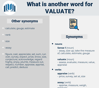 valuate, synonym valuate, another word for valuate, words like valuate, thesaurus valuate