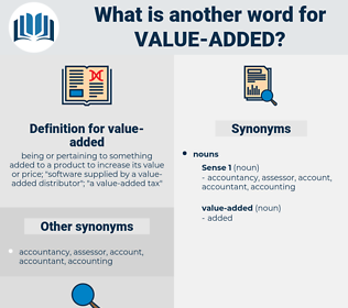 Synonyms For Value Added Thesaurus Net
