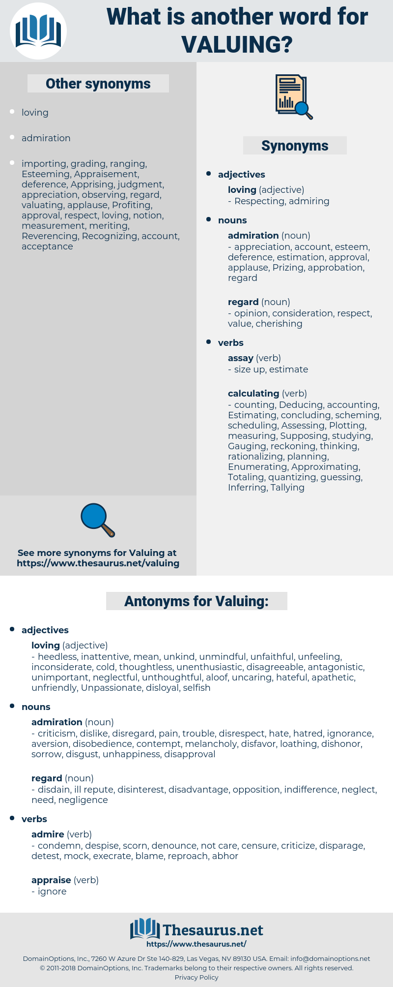 Valuing, synonym Valuing, another word for Valuing, words like Valuing, thesaurus Valuing