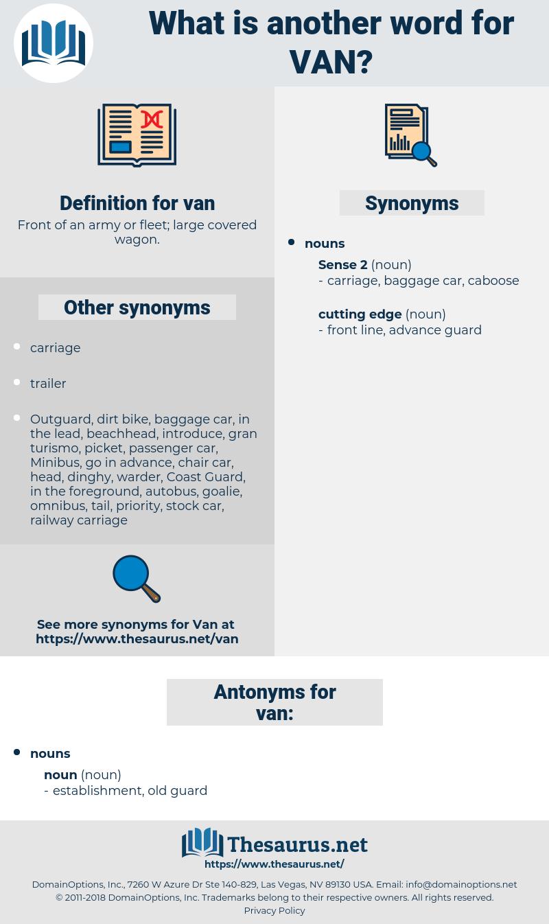 van, synonym van, another word for van, words like van, thesaurus van