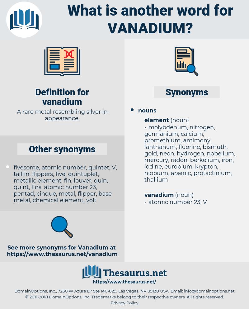 vanadium, synonym vanadium, another word for vanadium, words like vanadium, thesaurus vanadium