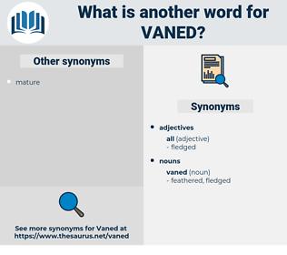 vaned, synonym vaned, another word for vaned, words like vaned, thesaurus vaned