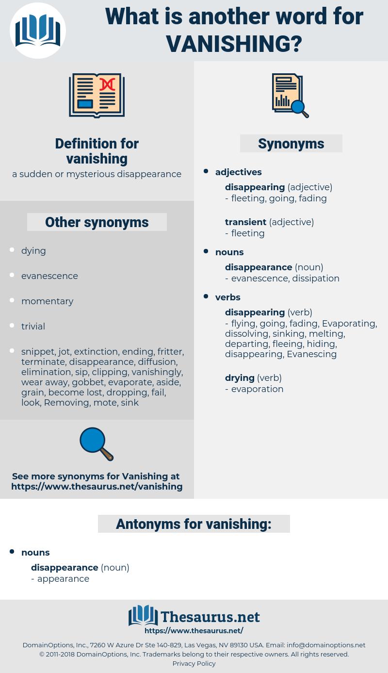 vanishing, synonym vanishing, another word for vanishing, words like vanishing, thesaurus vanishing