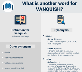vanquish, synonym vanquish, another word for vanquish, words like vanquish, thesaurus vanquish
