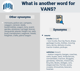 vans, synonym vans, another word for vans, words like vans, thesaurus vans
