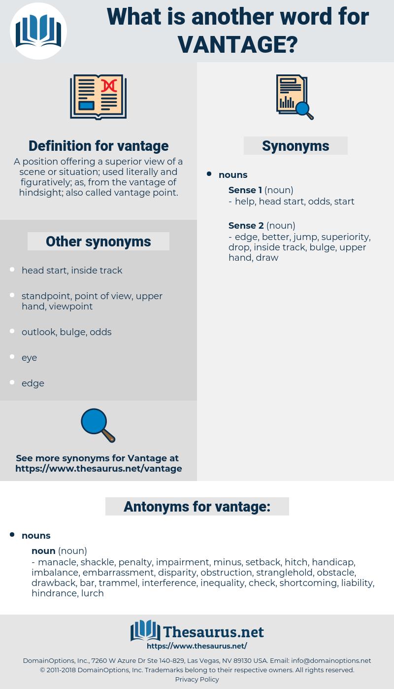 vantage, synonym vantage, another word for vantage, words like vantage, thesaurus vantage