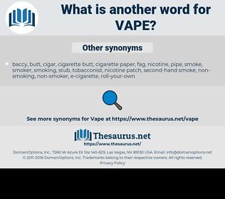 vape, synonym vape, another word for vape, words like vape, thesaurus vape