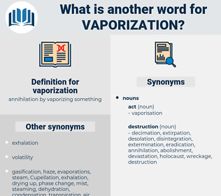 vaporization, synonym vaporization, another word for vaporization, words like vaporization, thesaurus vaporization