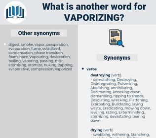 Vaporizing, synonym Vaporizing, another word for Vaporizing, words like Vaporizing, thesaurus Vaporizing