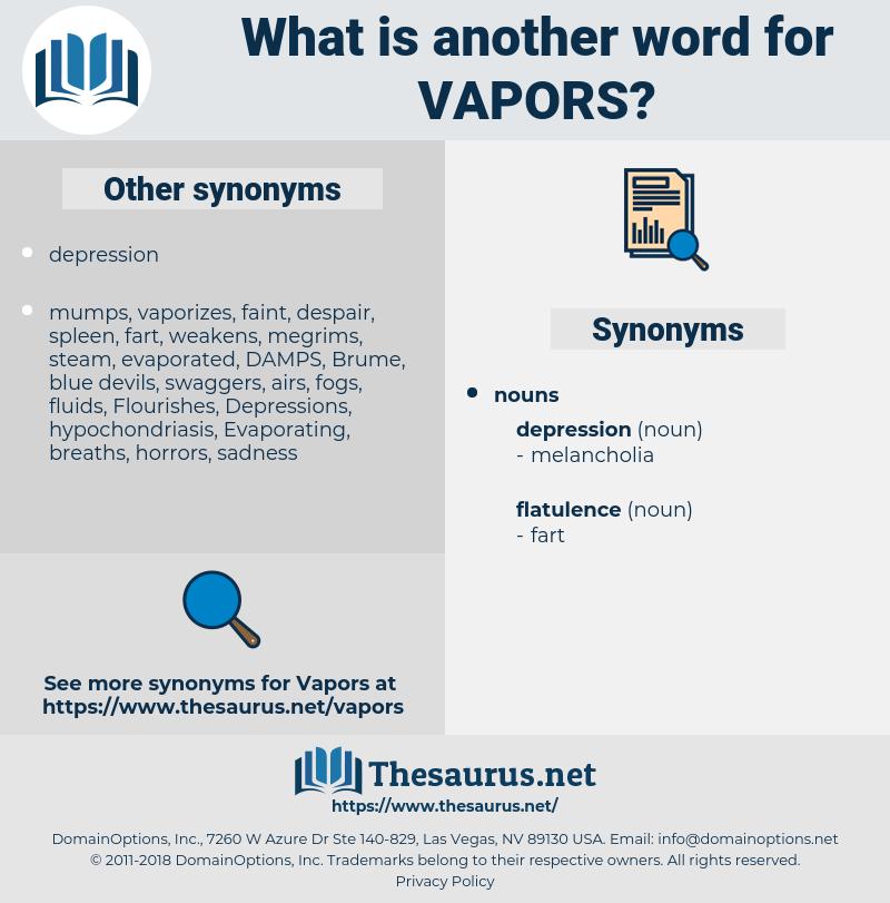 vapors, synonym vapors, another word for vapors, words like vapors, thesaurus vapors