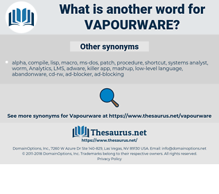 vapourware, synonym vapourware, another word for vapourware, words like vapourware, thesaurus vapourware