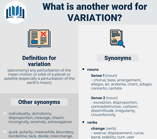 variation, synonym variation, another word for variation, words like variation, thesaurus variation