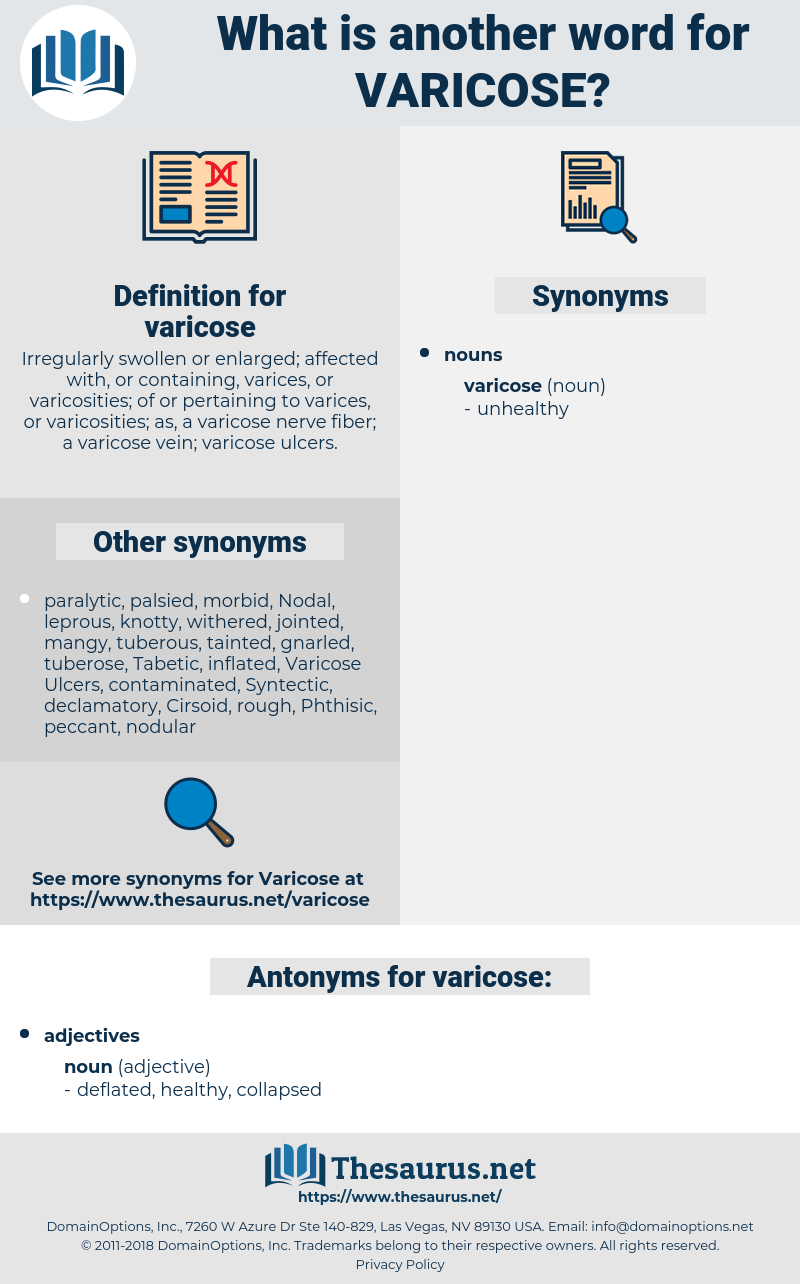 varicose, synonym varicose, another word for varicose, words like varicose, thesaurus varicose