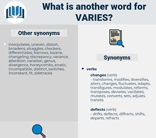 varies, synonym varies, another word for varies, words like varies, thesaurus varies