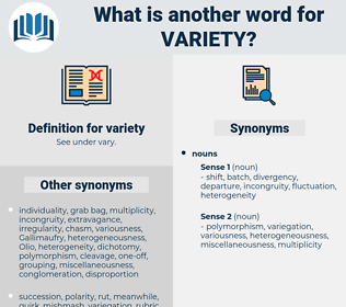 variety, synonym variety, another word for variety, words like variety, thesaurus variety