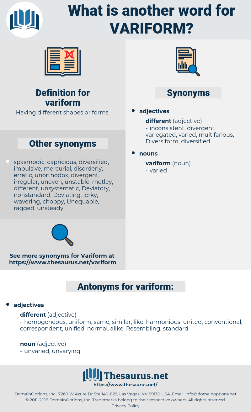 variform, synonym variform, another word for variform, words like variform, thesaurus variform