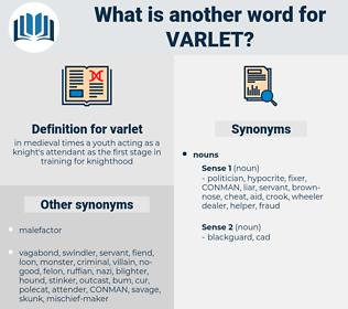 varlet, synonym varlet, another word for varlet, words like varlet, thesaurus varlet