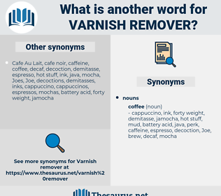 varnish remover, synonym varnish remover, another word for varnish remover, words like varnish remover, thesaurus varnish remover