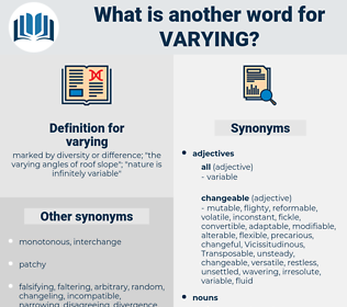 varying, synonym varying, another word for varying, words like varying, thesaurus varying