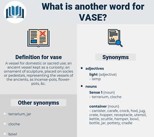 vase, synonym vase, another word for vase, words like vase, thesaurus vase