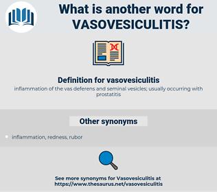 vasovesiculitis, synonym vasovesiculitis, another word for vasovesiculitis, words like vasovesiculitis, thesaurus vasovesiculitis
