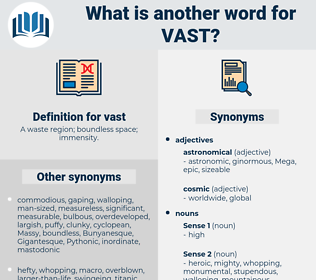 vast, synonym vast, another word for vast, words like vast, thesaurus vast