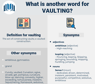 vaulting, synonym vaulting, another word for vaulting, words like vaulting, thesaurus vaulting