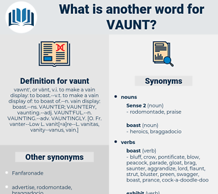 vaunt, synonym vaunt, another word for vaunt, words like vaunt, thesaurus vaunt