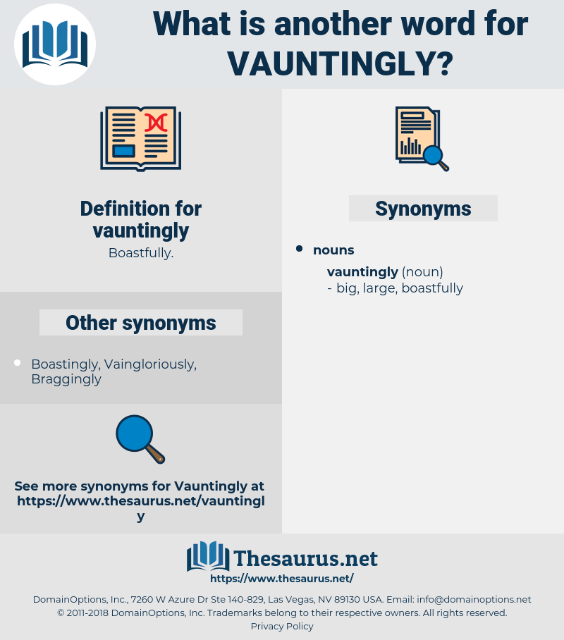 vauntingly, synonym vauntingly, another word for vauntingly, words like vauntingly, thesaurus vauntingly