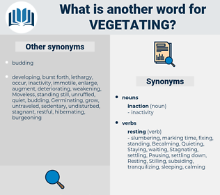 Vegetating, synonym Vegetating, another word for Vegetating, words like Vegetating, thesaurus Vegetating