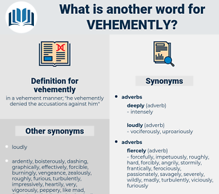 vehemently, synonym vehemently, another word for vehemently, words like vehemently, thesaurus vehemently