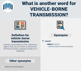 vehicle-borne transmission, synonym vehicle-borne transmission, another word for vehicle-borne transmission, words like vehicle-borne transmission, thesaurus vehicle-borne transmission