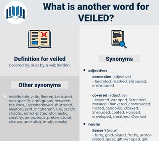 veiled, synonym veiled, another word for veiled, words like veiled, thesaurus veiled