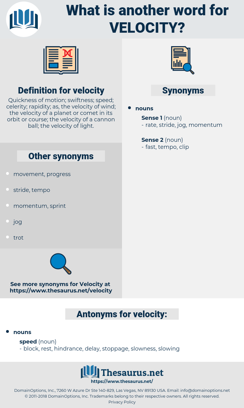 velocity, synonym velocity, another word for velocity, words like velocity, thesaurus velocity