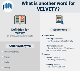 velvety, synonym velvety, another word for velvety, words like velvety, thesaurus velvety