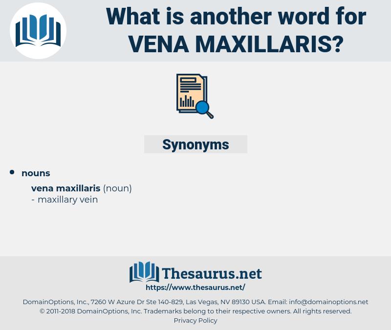 Vena Maxillaris, synonym Vena Maxillaris, another word for Vena Maxillaris, words like Vena Maxillaris, thesaurus Vena Maxillaris