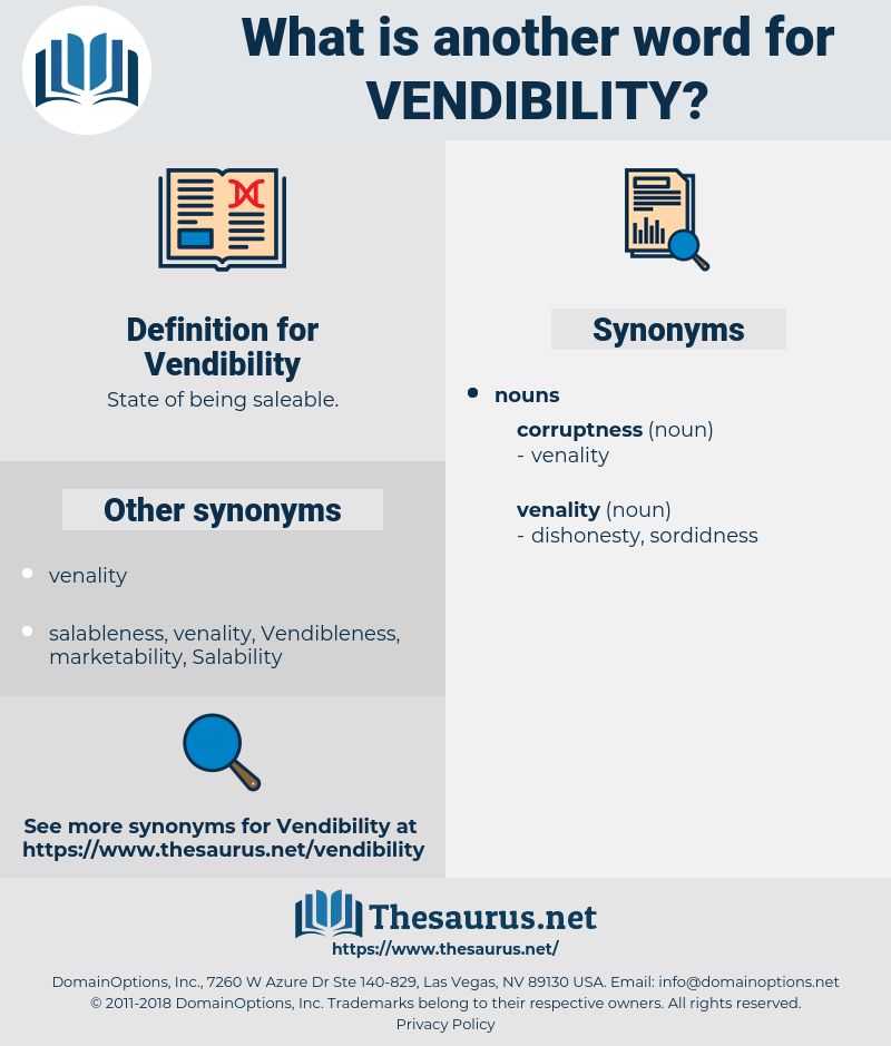 Vendibility, synonym Vendibility, another word for Vendibility, words like Vendibility, thesaurus Vendibility