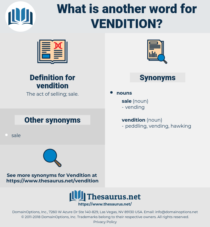 vendition, synonym vendition, another word for vendition, words like vendition, thesaurus vendition