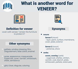 veneer, synonym veneer, another word for veneer, words like veneer, thesaurus veneer