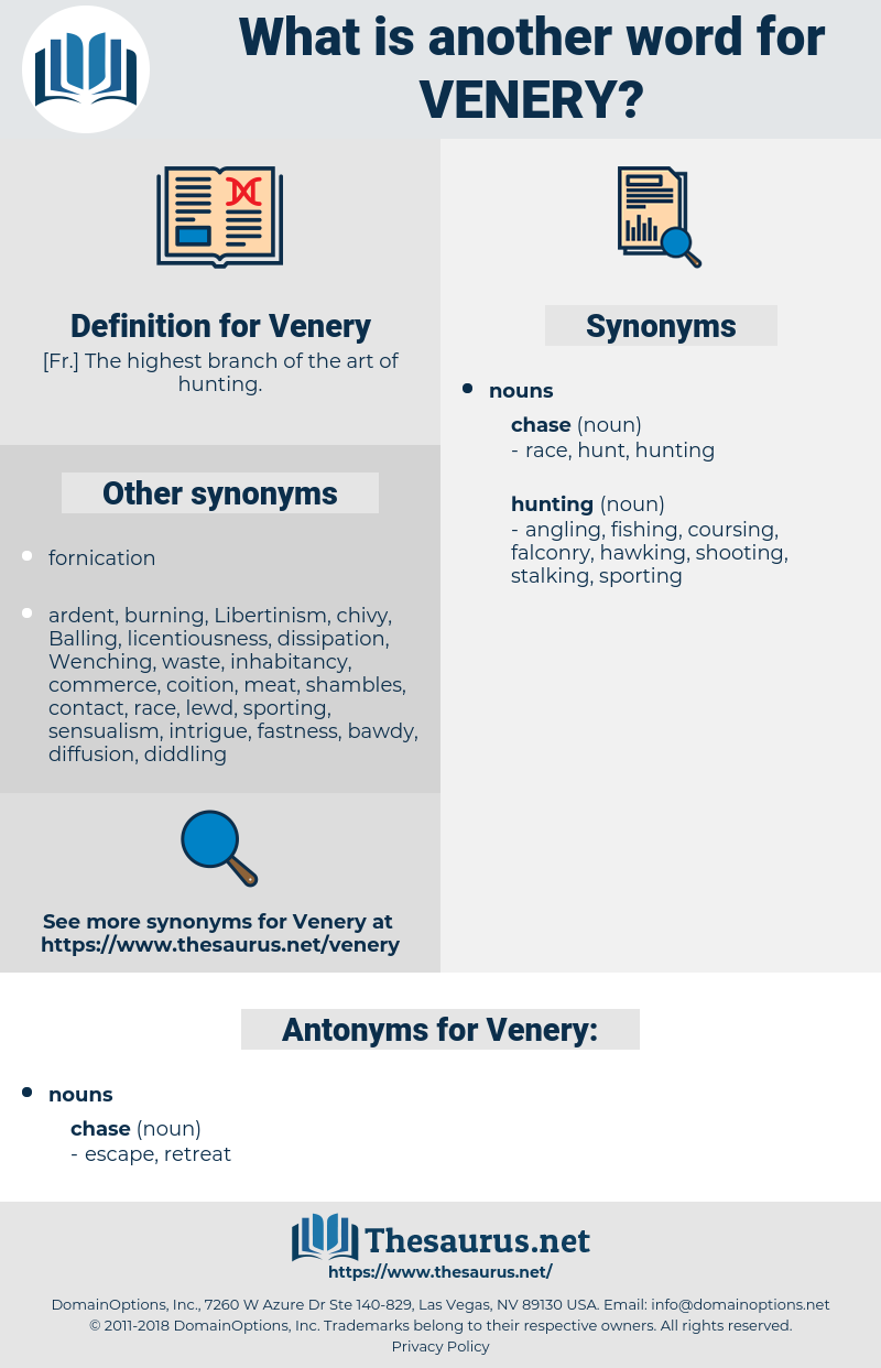 Venery, synonym Venery, another word for Venery, words like Venery, thesaurus Venery