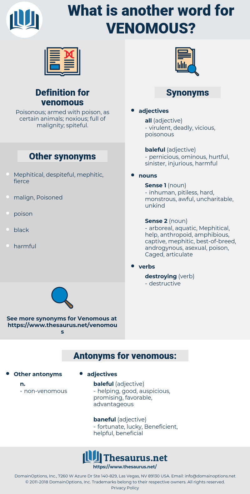 venomous, synonym venomous, another word for venomous, words like venomous, thesaurus venomous