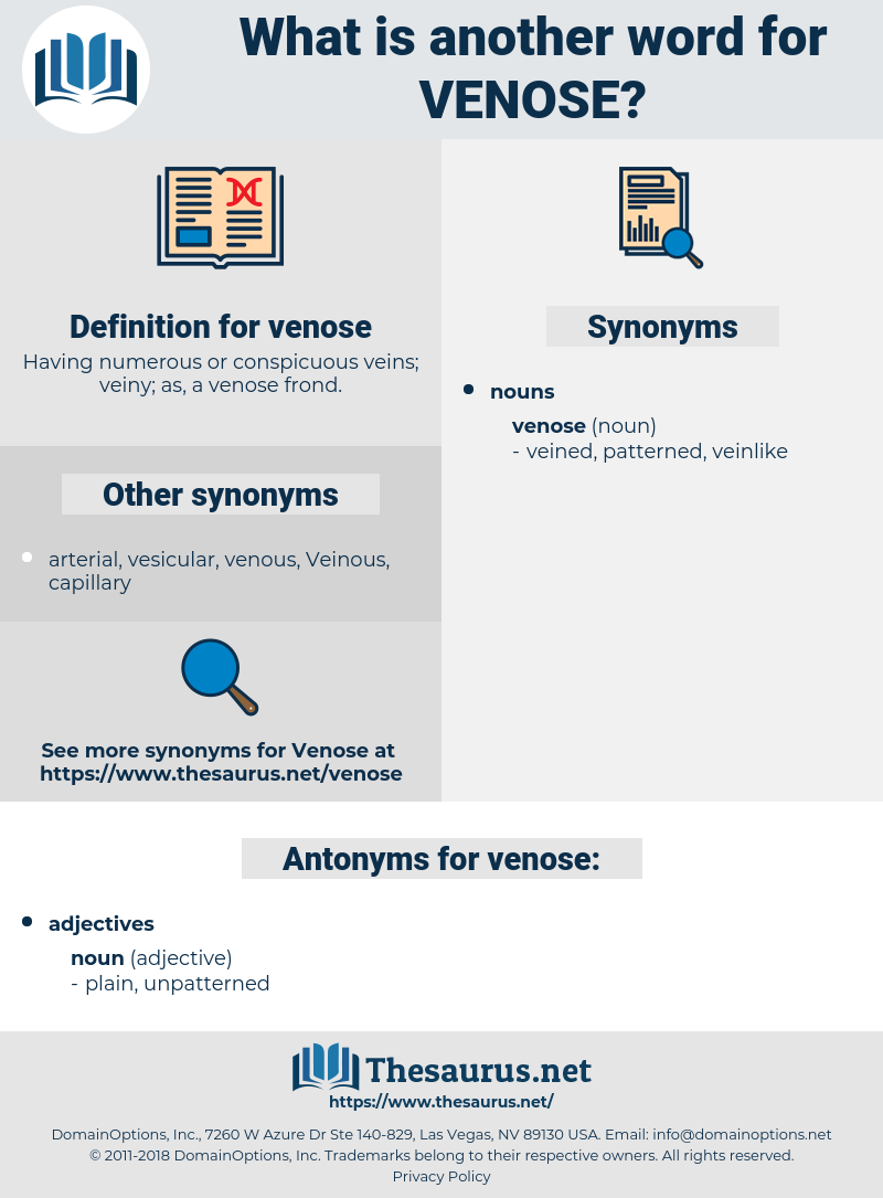 venose, synonym venose, another word for venose, words like venose, thesaurus venose