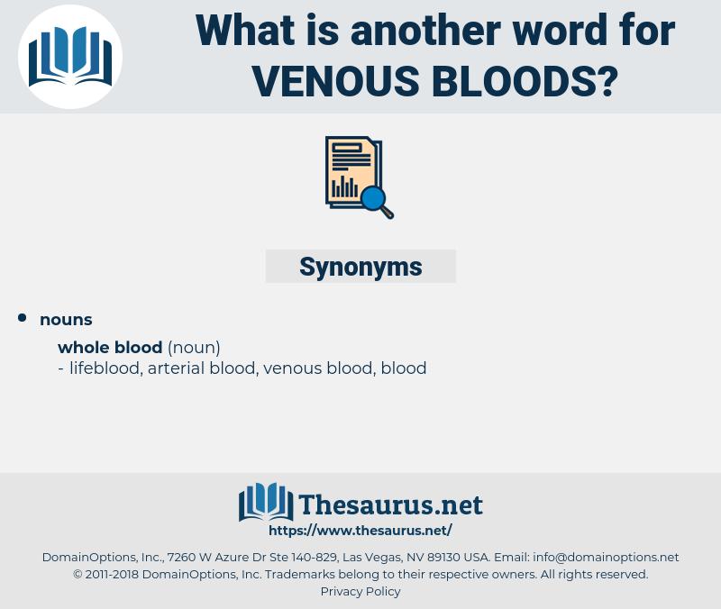 venous bloods, synonym venous bloods, another word for venous bloods, words like venous bloods, thesaurus venous bloods
