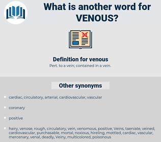 venous, synonym venous, another word for venous, words like venous, thesaurus venous