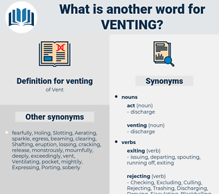 venting, synonym venting, another word for venting, words like venting, thesaurus venting