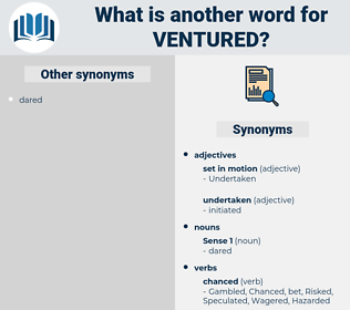 Ventured, synonym Ventured, another word for Ventured, words like Ventured, thesaurus Ventured