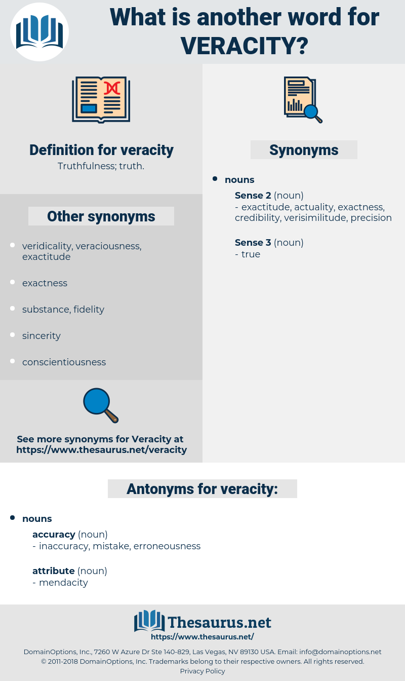 veracity, synonym veracity, another word for veracity, words like veracity, thesaurus veracity