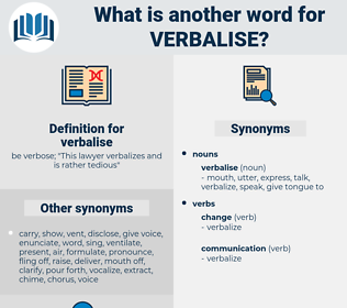 verbalise, synonym verbalise, another word for verbalise, words like verbalise, thesaurus verbalise