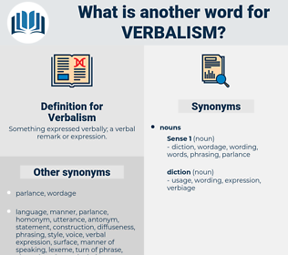Verbalism, synonym Verbalism, another word for Verbalism, words like Verbalism, thesaurus Verbalism
