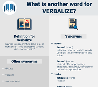 verbalize, synonym verbalize, another word for verbalize, words like verbalize, thesaurus verbalize
